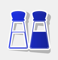 Salt and pepper sign new year bluish icon vector