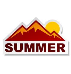 Summer mountain sticker vector
