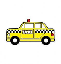 taxi cab vector image