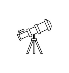 telescope line icon education and astronomy vector image vector image