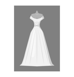 Wedding dress icon gray monochrome style vector image