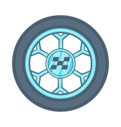 Wheel from racing car icon cartoon style vector image