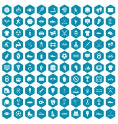 100 athlete icons sapphirine violet vector