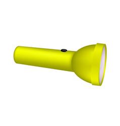 Flashlight in yellow design vector