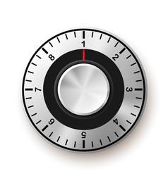 Security concept safe dial icon vector