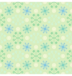 Spring simple and clean pattern with flowers vector