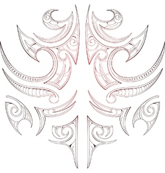 Maori tribal art tattoo vector