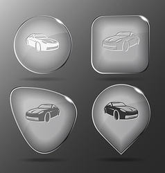 Car glass buttons vector