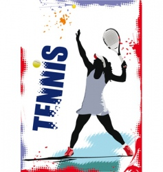 tennis poster vector image