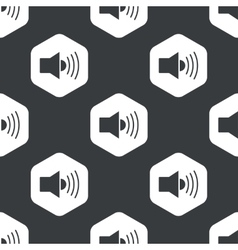 Black hexagon loudspeaker pattern vector