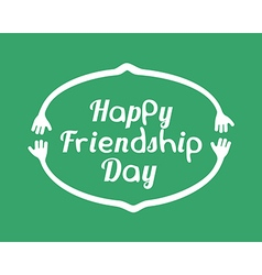 Happy friendship day emblem design template vector