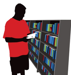 Bookstore shopper vector