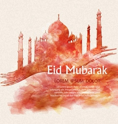 background with a mosque for the Muslim holiday vector image