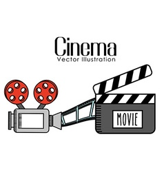 Cinema film design vector