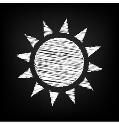 Sun sign scribble effect vector