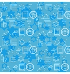 Passover seamless pattern background vector