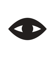 Flat icon in black and white style eye problems vector