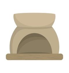 Aromatherapy design stone bowl icon vector