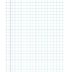 Blank squared paper texture from a notepad vector