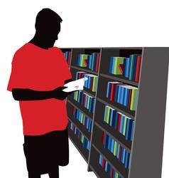 bookstore shopper vector image vector image