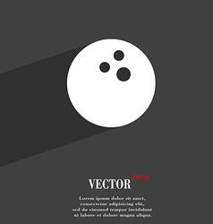 Bowling game ball symbol flat modern web design vector