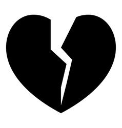 Broken heart icon simple style vector