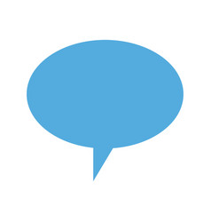 bubble speech talk message chat icon vector image