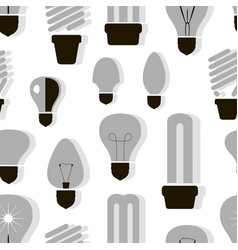 bulb logo icons set pattern vector image vector image