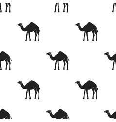 camel icon in black style isolated on white vector image