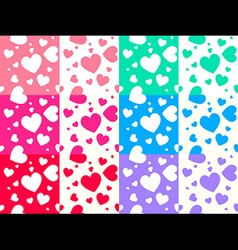 Colorful heart pattern vector image vector image