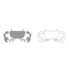 Crab the grey set icon vector