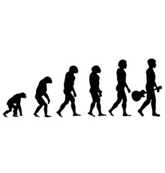 evolution of acoustic guitar player vector image