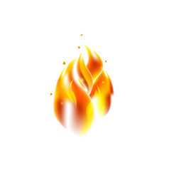 Fire flame over white vector
