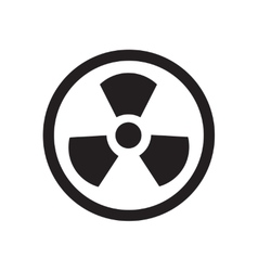 Flat icon in black and white toxic vector