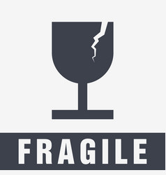 Fragile symbol for packing box vector