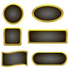Golden buttons vector image
