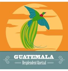 Guatemala landmarks retro styled image vector