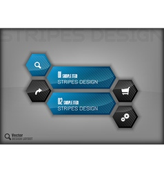 Hexagon Layout vector image