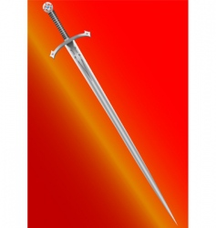 knight's sword vector image vector image