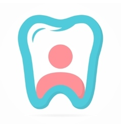 Logo combination of person and tooth vector image vector image