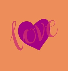 love heart shape design for love symbols vector image vector image