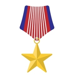 Medal with star cartoon icon vector image