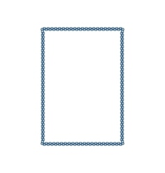 metallic chain frame vector image vector image