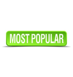 most popular green 3d realistic square isolated vector image vector image
