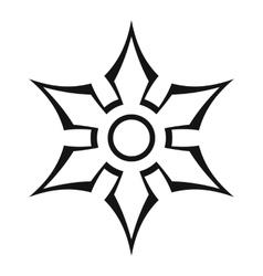Ninja shuriken star weapon icon outline style vector