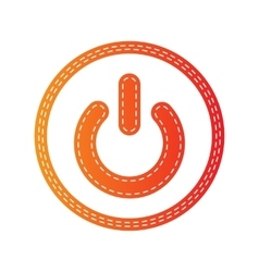 On off switch sign orange applique isolated vector