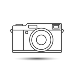 Retro vintage camera icon vector image vector image