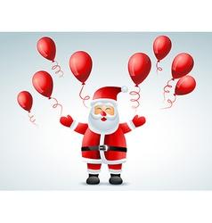 Santa claus flying balloon vector