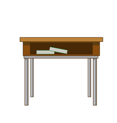 School table with books class design vector