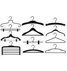set of different hangers vector image vector image